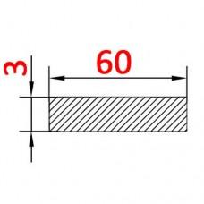 Алюминиевая полоса 60х3 б.п.