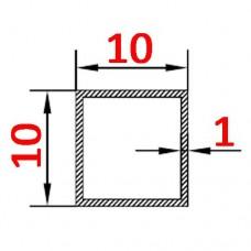 Труба алюминиевая 10х10х1 AS квадратная