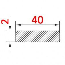 Алюминиевая полоса 40х2 б.п.