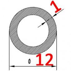 Труба алюминиевая 12х1 б.п. круглая