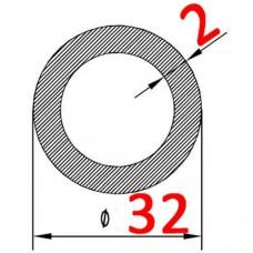 Труба алюминиевая 32х2 б.п. круглая