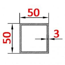 Труба алюминиевая 50х50х3 AS квадратная
