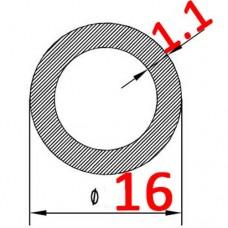 Труба алюминиевая 16х1.1 AS круглая