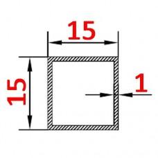 Труба алюминиевая 15х15х1 AS квадратная