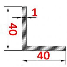 Уголок алюминиевый 40х40х1 AS