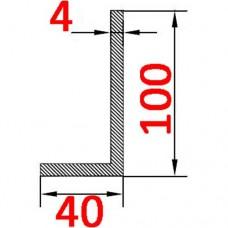 Уголок алюминиевый 100х40х4 AS