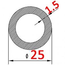 Труба алюминиевая 25х1.5 б.п. круглая