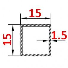 Труба алюминиевая 15х15х1.5 б.п. квадратная