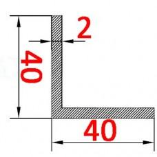 Уголок алюминиевый 40х40х2 б.п.