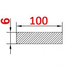 Алюминиевая полоса 100х6 б.п.