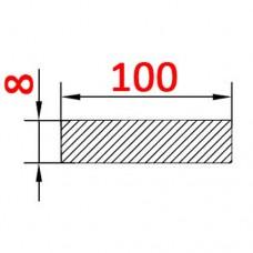 Алюминиевая полоса 100х8 б.п.