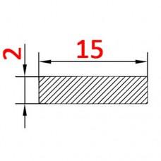 Алюминиевая полоса 15х2 б.п.