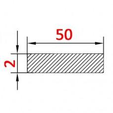 Алюминиевая полоса 50х2 б.п.