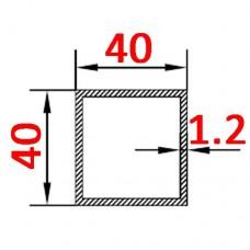 Труба алюминиевая 40х40х1.2 AS квадратная
