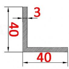 Уголок алюминиевый 40х40х3 б.п