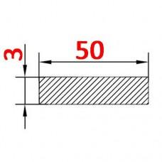 Алюминиевая полоса 50х3 AS