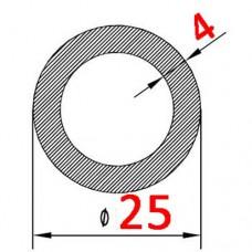 Труба алюминиевая 25х4 б.п. круглая